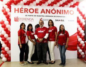 Rainelda Flores, Wilma Santana, Santiago Collado, Cynthia León y Eduviges Aracena.