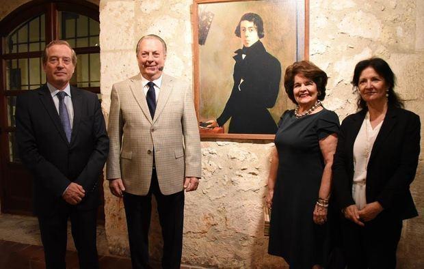 Didier Lopinot, Eduardo Selman, Gloria de Selman y Elisabeth de Lopinot.