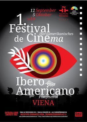 Afiche del Festival Cine cine Iberoamericano de Viena.