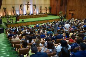 Público asistente al aniversario del BCRD.
