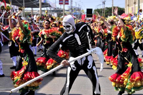 Desfile en el carnaval.