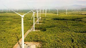 Parque eólico Laudato Si en Panamá, de 215MW, el más grande de Centroamérica y Caribe. Detalle del parque eólico Laudato Si en Panamá, de 215MW, el más grande de Centroamérica y Caribe.