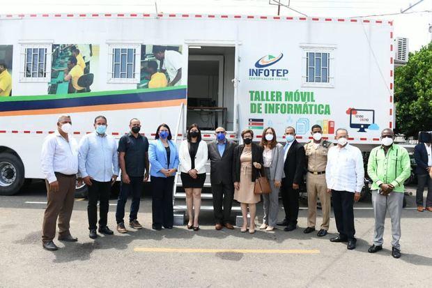 INFOTEP lanza plan de alineamiento de la FTP en región Norte y pone en funcionamiento talleres móviles en Hermanas Mirabal