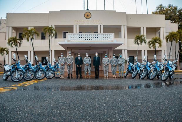 Las motocicletas  permitirán a la institución militar ampliar los patrullajes dentro del Comando Conjunto Unificado.