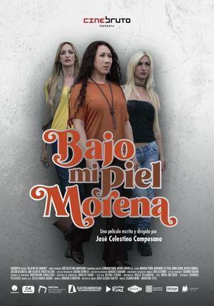 Afiche película ' Bajo mi piel morena'.