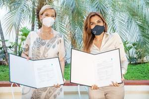 Inka Matiza junto a Carolina Mejía actualizaron su acuerdo de trabajo conjunto.