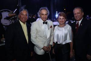 Niní Cáffaro, José Antonio Molina Lucía Medina y Reinaldo Pared