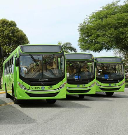 Los autobuses de la OMSA disponibles de seis de la mañana a tres de la tarde
