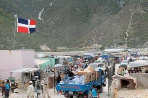 Frontera de Haití y República Dominicana.