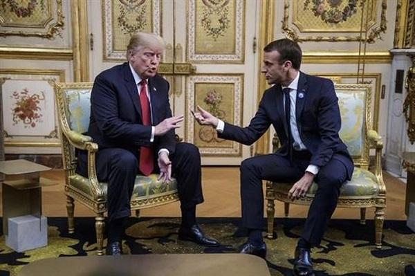Macron y Trump chocan en París por los planes sobre la defensa europea