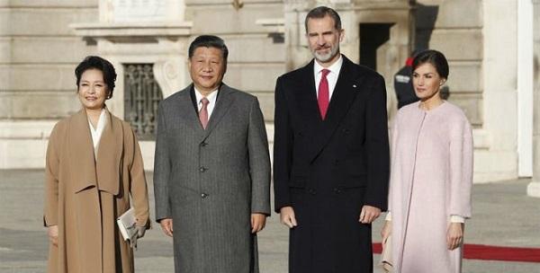 Los Reyes presiden la primera bienvenida a España a un presidente chino en 13 años