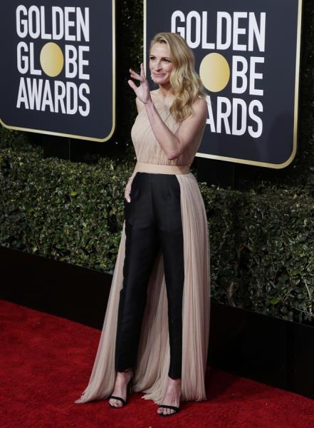 Julia Roberts en los Globos de Oro.