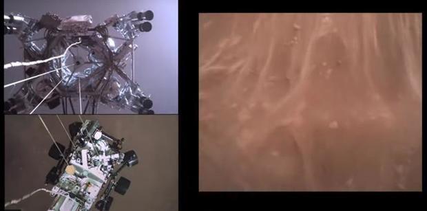 Un video del Perseverance, 'el primero' de una nave posándose en otro planeta