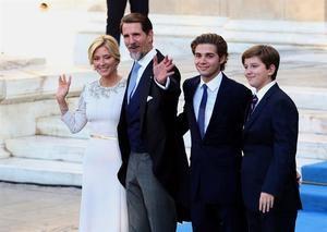 El encuentro reunió a caras muy conocidas entre los cientos de invitados, muchos de ellos familiares de los Grecia.