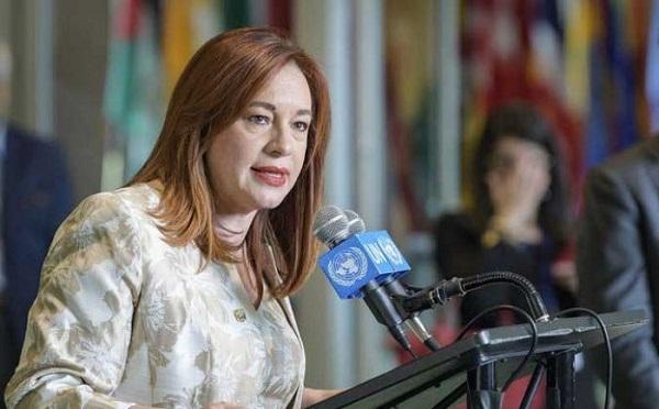 María Fernanda Espinosa jura el cargo como presidenta de la Asamblea de la ONU