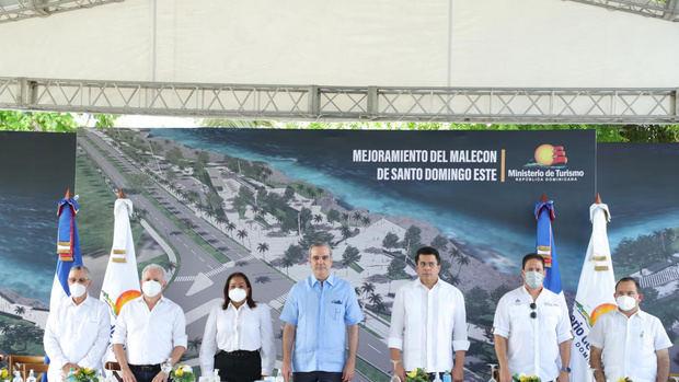 Presidente Abinader anuncia inversión de RD$550 M para mejoramiento Malecón SDE