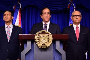 El ministro de la Presidencia, Gustavo Montalvo, brindó los detalles del anuncio en rueda de prensa ofrecida en el Salón Orlando Martínez del Palacio Nacional.