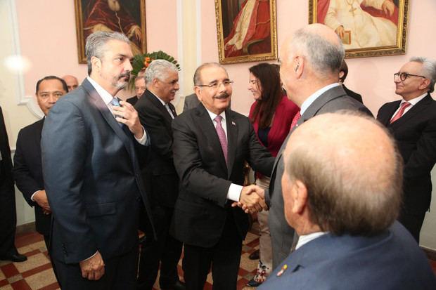 Presidente Danilo Medina durante almuerzo ofrecido en su honor por el Cuerpo Diplomático acreditado en República Dominicana.