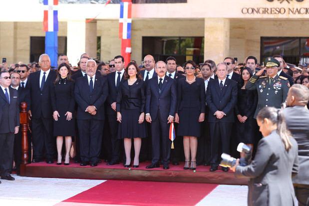 Presidente de la República, Danilo Medina Sánchez, durante su alocución ante la Asamblea Nacional, con motivo del 176 aniversario de la Independencia Nacional.
