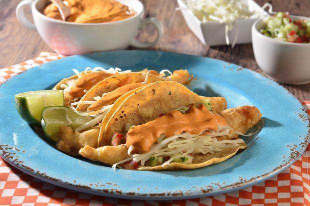 Tacos de Pescado al Estilo Ensenada.