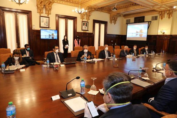 Ministro Peralta conversa con líderes empresariales sobre apertura actividades comerciales post coronavirus