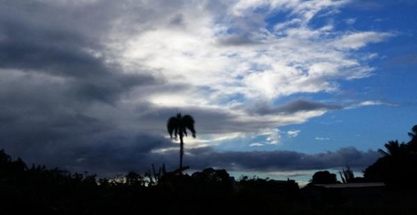 Nubes dispersas a medio nublado y algunos chubascos