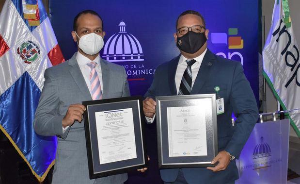 Instituto Nacional de Administración Pública, INAP, recibe certificación ISO 9001-2015