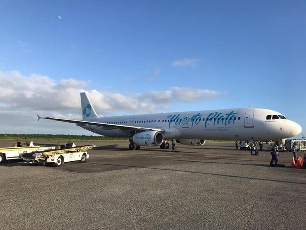 La nueva línea aérea dominicana, Sky Cana, recibe su primer avión Airbus A321.