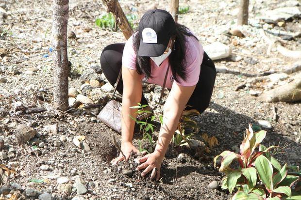 """En """"Jornada Eco Mujer"""" siembran más de 300 árboles con nombres de mujeres."""