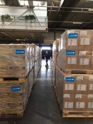 Suministros de UNICEF.