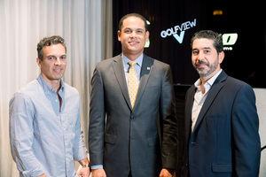 Antonio David, Gregory Soriano y Leo Proaño.