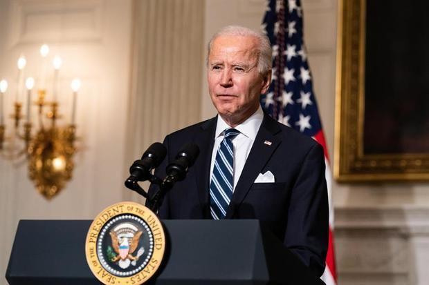 El presidente de Estados Unidos, Joe Biden, fue registrado este miércoles al presentar su plan para atender la crisis climática, en la Casa Blanca, en Washington DC, EE.UU.