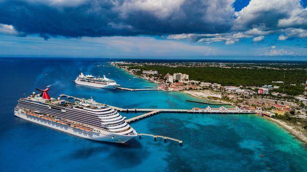 Fotografía de archivo fechada el 11 de agosto de 2019 que muestra un crucero en la isla de Cozumel, México.