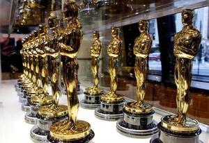 Vista de estatuillas de los Oscar.
