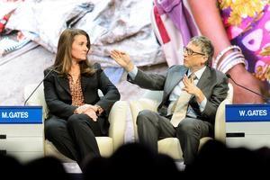 En la imagen, Melinda French Gates y Bill Gates.