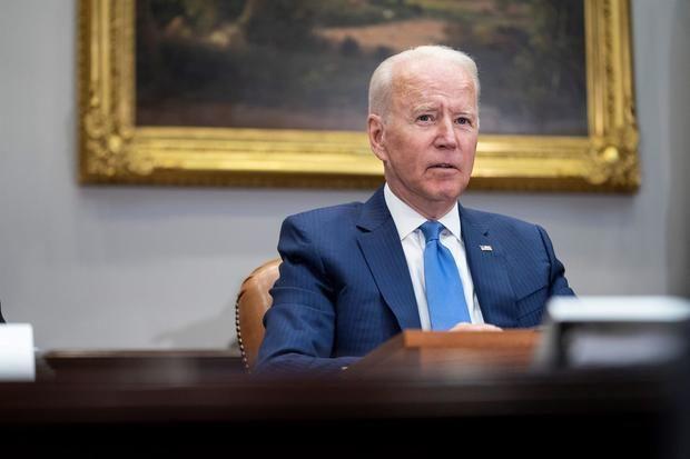 En la imagen, el presidente de EE.UU., Joe Biden, habla durante una reunión en la Casa Blanca, este 12 de julio de 2021, en Washington.