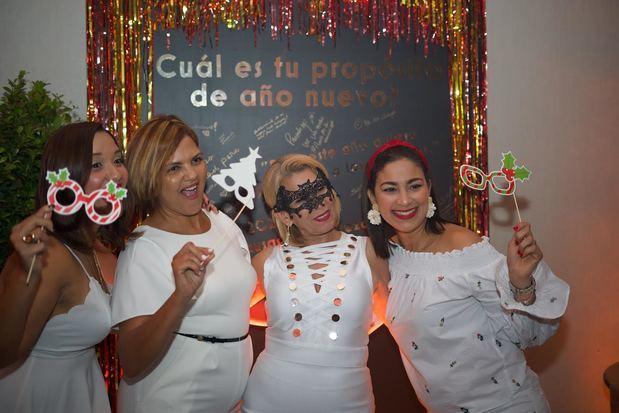 Melina Grullón, Luisa Blanco, Iluminada Paulino y Johanny Polanco.