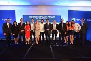 El Banco Popular Dominicano realizó la primera edición de Impúlsate, su programa de apoyo al emprendimiento entre universitarios, en cuya premiación los proyectos de negocio de Purozumo, Jompéame y Nocciola, fueron galardonados como los tres proyectos emprendedores más innovadores de las 64 propuestas que compitieron.