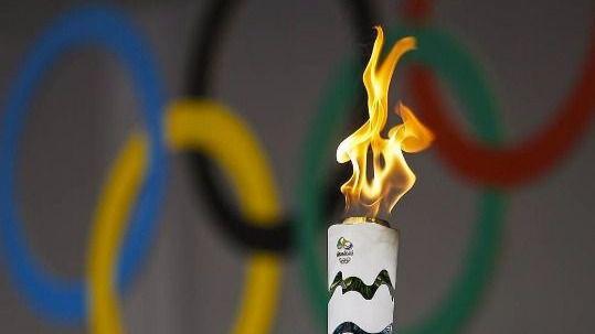 Antorcha olímpica de Río 2016.