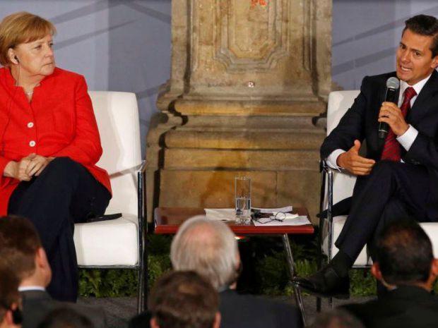 La canciller alemana Angela Merkel y el presidente de México, Enrique Peña Nieto, firmaron acuerdos de colaboración en cuanto a comercio y defensa del medioambiente.