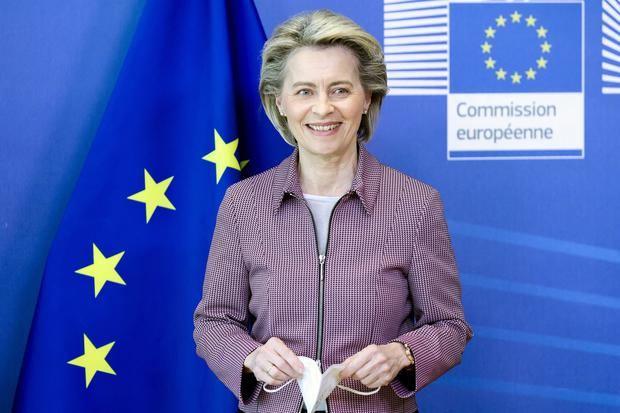 La presidenta de la Comisión Europea, Ursula von der Leyen, el una comparecencia el pasado jueves.