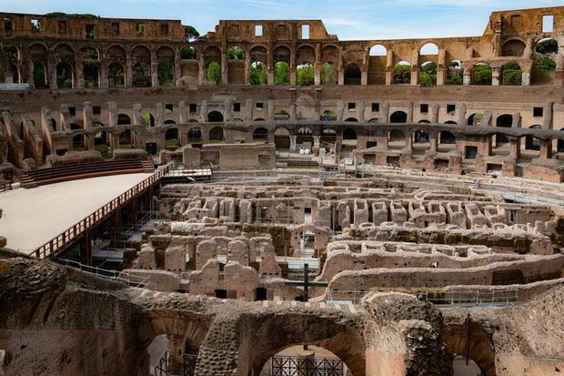 Las obras para reconstruir la arena del Coliseo romano comenzarán en 2021.