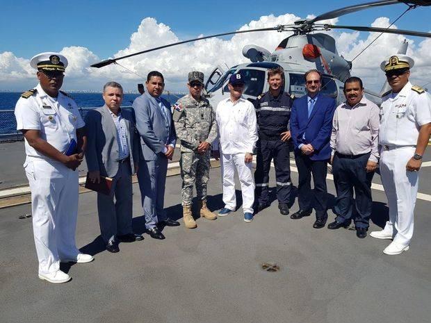 Fragata francesa Ventôse participa en simulacro contra el narcotráfico en aguas del Mar Caribe