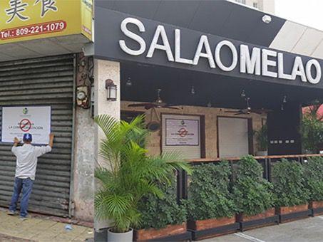 Restaurant Chino cerrado.