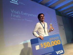 Sebastián Cadenas, ganador Visa Everywhere Initiative.