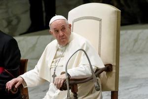 Imagen de esta semana del papa Francisco en el Vaticano.