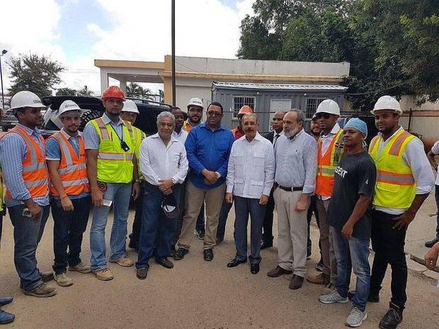Danilo Medina supervisa avances Hospital y Ciudad Sanitaria