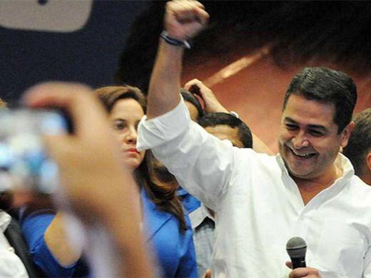 El candidato del gobernante Partido Nacional y presidente del país, Juan Orlando Hernández.