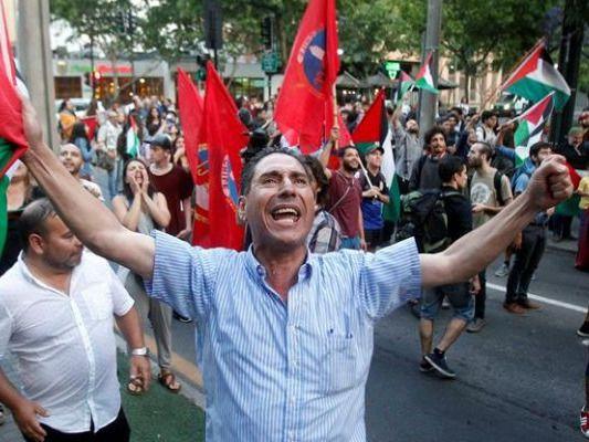 Unas 2,000 personas protestan en Chile por decisión de EE.UU. sobre Jerusalén
