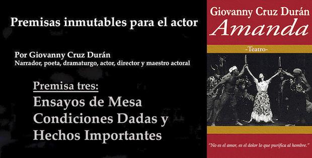 Tercera premisa inmutable para el actor: Ensayo de Mesa, Condiciones Dadas y Hechos Importantes.
